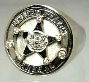 Picture of U S Marshal Police Ring