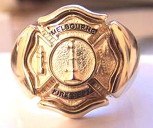 Picture of Firefighter Melbourne Florida Rings