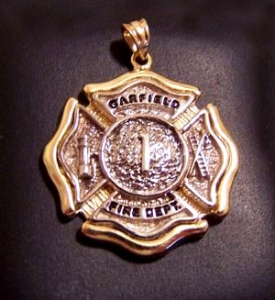 Picture of Firefighter Garfield NJ Pendant