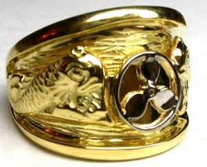 Picture of US Navy Submarine Engineering Dolphin Military Ring