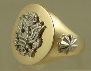 Picture of US Army Officer Military Ring Large