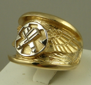 Picture of US Coast Guard Rescue Swimmer Military Ring