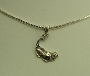 Picture of US Navy Submarine Dolphin Pendant One Eye