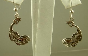 Picture of US Navy Submarine Dolphin Military Earrings
