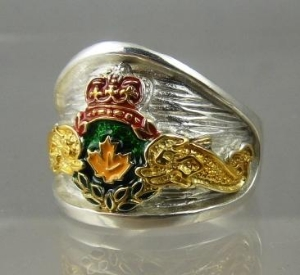 Picture of Royal Canadian Submarine Dolphin Military Ring