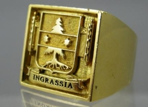 Picture of Ingrassia Coat Of Arms Family Crest Rings Pendants