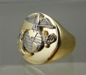 Picture of US Marine Corps USMC Custom Military Ring