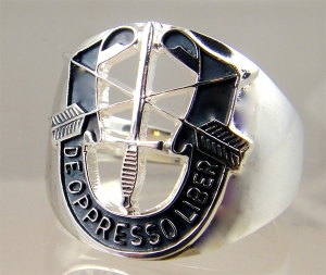 Picture of US Army Special Forces Delta DE OPPRESSO LIBER Military Ring