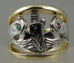 Picture of US Navy Submarine Dolphin Womans Ring