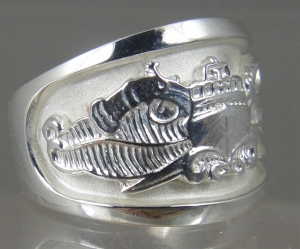 Picture of US Navy Special Warfare Combatant Craft Crewman SWCC Ring Classic