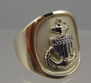 Picture of US Coast Guard Chief's Military Ring
