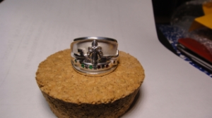 Picture of US Navy Submarine Dolphin SSBN Patrol Pin Ring