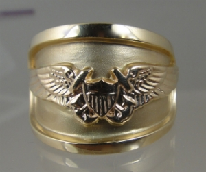 Picture of US Navy Flight Officer Ring