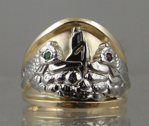 Picture of US Navy Licensed Submarine Dolphin Guppy Ring