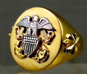 Picture of US Navy Officer Ring Large