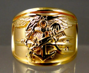 Picture of US Navy UDT SEAL Trident Ring