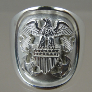 Picture of US Navy Officer Ring Sterling