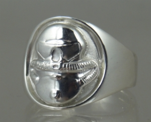 Picture of  US Marine Corps USMC Licensed Combat Diver Ring Sterling