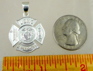 Picture of  US Marine Corps USMC Fire Fighter pendant