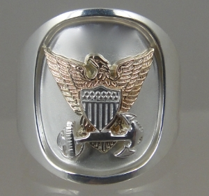 Picture of US Coast Guard Officers Military Ring