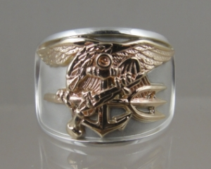 Picture of US NavyTrident UDT SEAL Ring Sterling silver