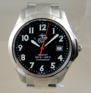 Picture of Marine Corps USMC Swiss Automatic Watch Seapearl