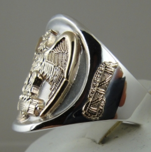 Picture of  SPQR Roman Legion Eagle Fasces Ring