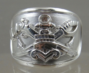 Picture of US Navy Special Warfare Combatant Craft SWCC Boat Senior Ring