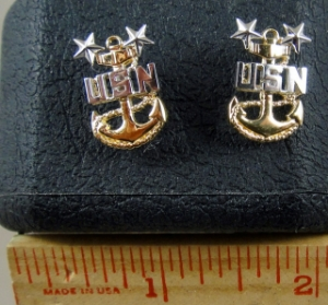 Picture of US Navy Chief Earrings