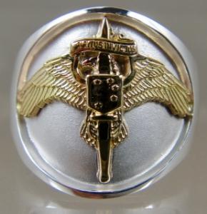 Picture of US Marine Corps USMC MARSOC Raider Special Operator Licensed Ring