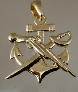 Picture of US Navy Special Warfare Combatant Craft Crewman SWCC Rate Pendant