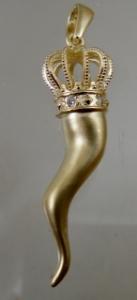 Picture of  Italian Horn Cornicello Pendant 3-D 40mm