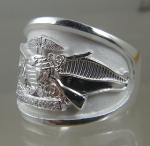 Picture of US Marine Corps US Navy Fleet Marine Force Ring