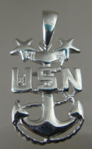 Picture of   US Navy Licensed Master Chief E-9 Pendant