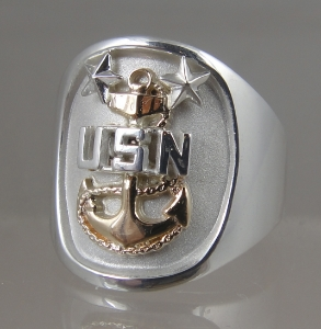 Picture of US Navy Chief Petty Officer  Ring - Sterling