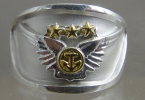 Picture of US Navy/ Marine Corps Combat Air Crew Ring official Navy/Marine Corps license